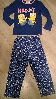 Blue Despicable Me Minions nightwear pyjamas sleepwear set NEW  Girls Age 4
