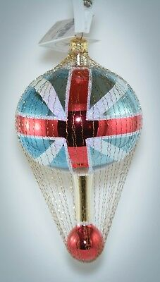 Christopher Radko Ornament UNION JACK WIRE HOT AIR BALLOON 96-256-0