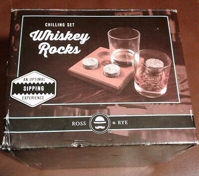 Whiskey Chilling Stones Ross&Rye Rocks Wine Drink Cooler Cooling Ice Cube NEW