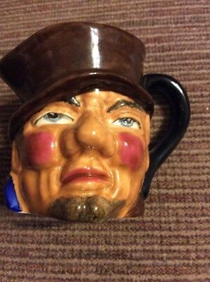 "VTG THORLEY BONE CHINA HAND PAINTED ""Bill Sykes TOBY JUG PITCHER MADE IN ENGLAND"