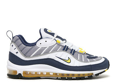 best service 085a4 a89ac NIKE AIR MAX 98 OG Tour Yellow White Midnight Navy 640744-105 Gundam size  8-13