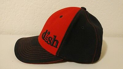 Dish Network Ball Cap Network Hopper Joey Hat Head Gear Tech Clothes Red Black