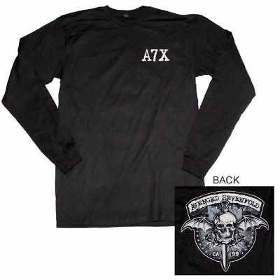 Avenged Sevenfold Biker Bat Long Sleeve T-Shirt Officially Licensed