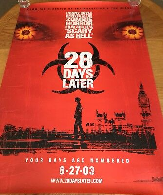 28 DAYS LATER - Original Rolled Movie Poster - Pre-Release Version