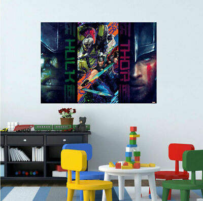 Hulk Thor Avengers Vinyl Print Poster Wall Sticker Kids Mural Decal Decor Gift