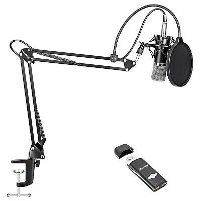 Neewer NW-700 Condenser Microphone Kit for Home Studio Broadcasting Recording