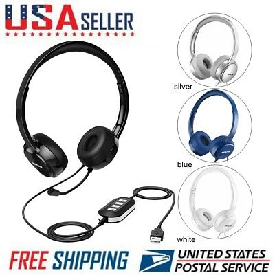 Mpow 071 USB Headset/ 3.5mm Computer Headset with Microphone Noise Cancelling US