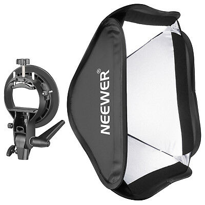 "Neewer Collapsible 24x24"" Softbox with S-type Bracket Mount for Speedlite Flash"