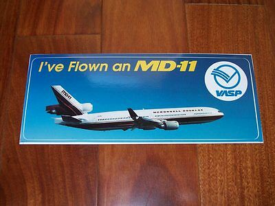 "RARE & BRAND NEW Sticker McDonnell Douglas MD-11 VASP Airlines 9"" x 3.5"""