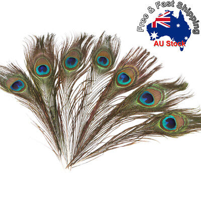 5/10/20/30 * 25-30cm Peacock Eye Feathers Tail Eye Feather Wedding Party DIY +