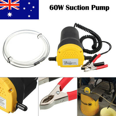 New 12V 60W Oil Suction Diesel Extractor Pump Transfer Fluid Change Car Boat AU