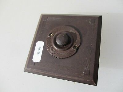 Vintage Bakelite Doorbell Service Switch Art Deco Crabtree Antique Old Push Bell
