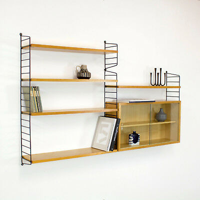 Original Shelving System Shelf STRING by Nisse Strinning 60s - Regal Esche 60er