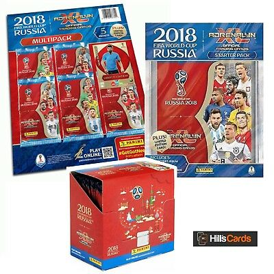 Fifa World Cup 2018 Adrenalyn XL: Starter Pack, Multi-Pack + Sealed Box of Cards