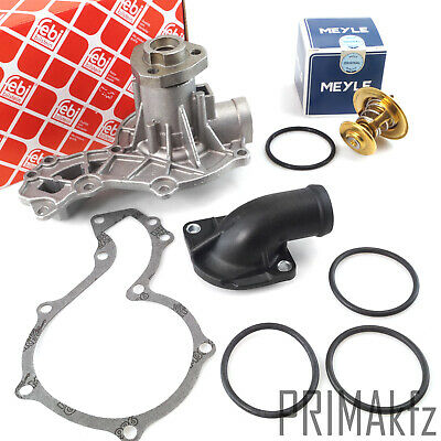 FEBI Wasserpumpe + MEYLE Thermostat 87° + Flansch VW Caddy Golf Jetta Passat