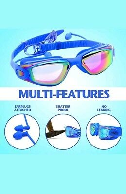 BeEased Swimming Goggles Anti Fog Wide Angle Clear View Lens Design UV Protect