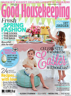 Bnib Good Housekeeping Magazine April 2018 Easter Eggs Dishwashers New & Sealed