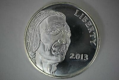 2013 Liberty Indian Head Buffalo USA Silver 1 oz .999 Fine Silver Round
