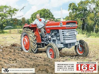 Massey Ferguson 165 metal wall sign 40cm X 30cm