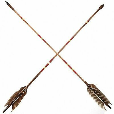 HANDMADE NAVAJO Indian Hand Painted Arrow Single Purchase by: Marlin Goldtooth