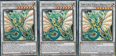 Yugioh  3 X Ancient Fairy Dragon - Lckc-En070  Legendary Collection Kaiba  Ultra