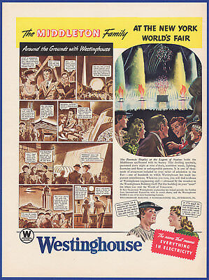 Vintage 1939 WESTINGHOUSE New York World's Fair Electricity Print Ad 1930's