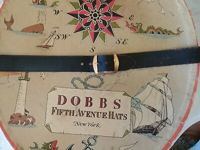 Antique Dobbs New York Fifth Ave. Hat Box - VGC - GREAT HAT BOX IN GREAT SHAPE