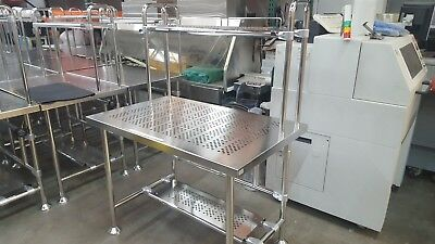 Palbam Class High Quality Cleanroom Stainless Steel Table with shelf & foot rest