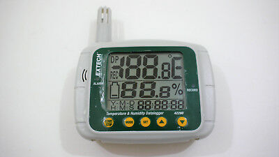 Extech 42280 Temperature Humidity Data Logger USB Port Big Display For Lab Use