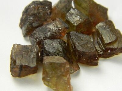 ANDALUSITE NATURAL ROUGH 12.10 GR, SELECTED GEM SIZES 1.00 thru 1.49 GR - S016