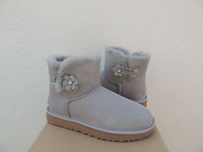 980658a52fb UGG SEAL GREY Classic Mini Serape Suede/ Sheepskin Boots, Us 7/ Eur ...