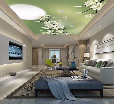 3D Moon Butterfly Flowers 52 Ceiling Wall Paper Print Wall Indoor Wall Murals CA