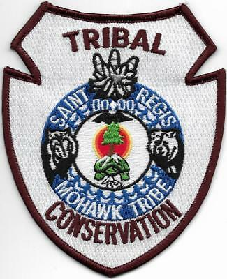 Tribal  NEW YORK Mohawk Tribe Con. Police Patch Polizei Abzeichen INDIANER-Pol.