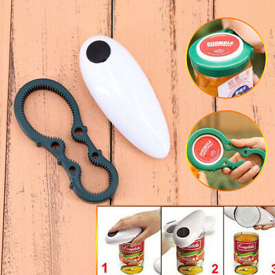 One Touch Automatic Electric Can Tin Jar Opener Hands Free Battery Operated AU