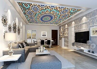3D Embossed Color Pattern 52 Ceiling Wall Paper Print Wall Indoor Wall Murals CA