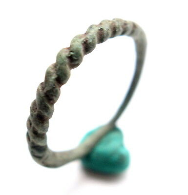 Ancient Bronze Pseudo Twisted Finger Ring (SEP80)