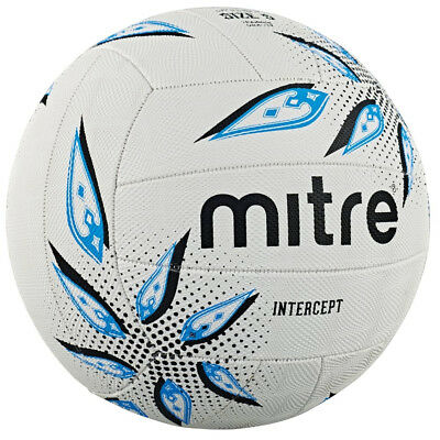 Mitre Intercept Training Match All Surface Netball Ball White