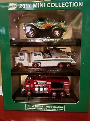 2017 Hess Mini Collection Monster Toy Helicopter Emergency Truck 3 Pack.