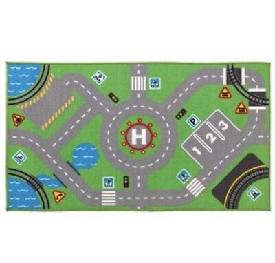 Ikea Storabo Rug/Play mat, Childrens/Kids, Green, Road Scene, 75 x 133 cm BNWT