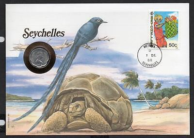 Seychelles 1988 Christmas 5 Cents Coin Cover
