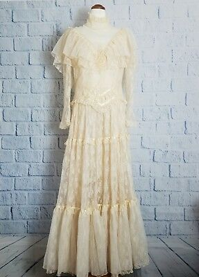 Vintage Country Elegance California Victorian Ivory two peice wedding gown