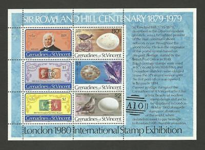 Grenadines of St Vincent MNH 1979 100th Ann. of the Death of Sir Rowland M/S
