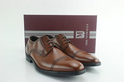 NIB $500 Bruno Magli Brown Lansdale Leather Oxford Dress Shoes Italy Size 9.5