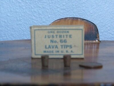 MINER'S CARBIDE LAMP Lava Tips - NEW/OLD STOCK, JUSTRITE NO.66 WITH BOX