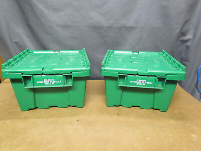 Buckhorn Attached Lid Green Container Model 472-517 Lot of 2