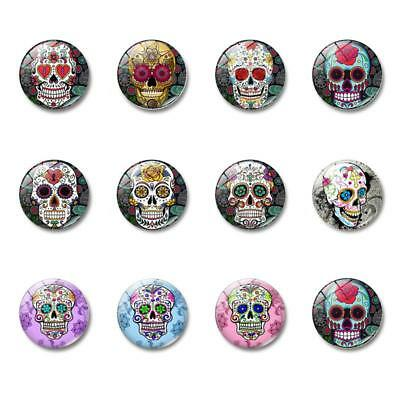 1/5/10PCS Colorful Glass Skull Fridge Magnet Whiteboard Note Message Decor CA