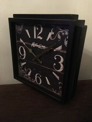 Rustic Vintage French Country Style Home Time Large Wooden Wall Clock