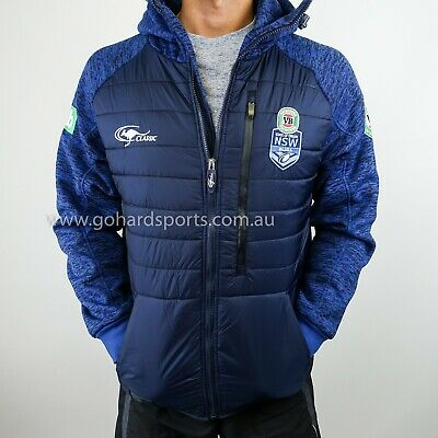 NSW Blues State Of Origin 2017 Players Heavy Weight Jacket Adults Sizes S - 2XL!
