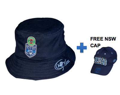 New South Wales Blues State Of Origin 2017 Supporters REVERSIBLE Bucket Hat