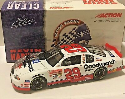 Kevin Harvick 2001 RCCA 1/24 #29 GM Goodwrench Service Plus 1/2 Clear Rookie Car